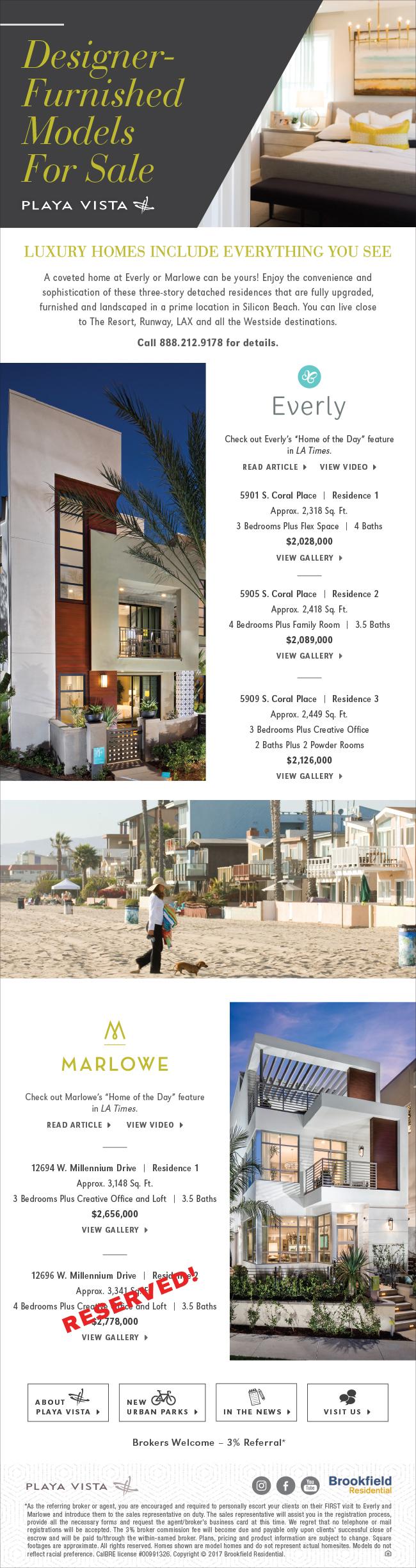 Playa Vista Houses For Sale