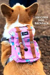 Photo of Unicorn #Dog #Backpack #with #Dog #Harness! # #dogharness #-…