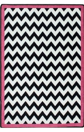 Milliken Pink Black And White Vibe Rug