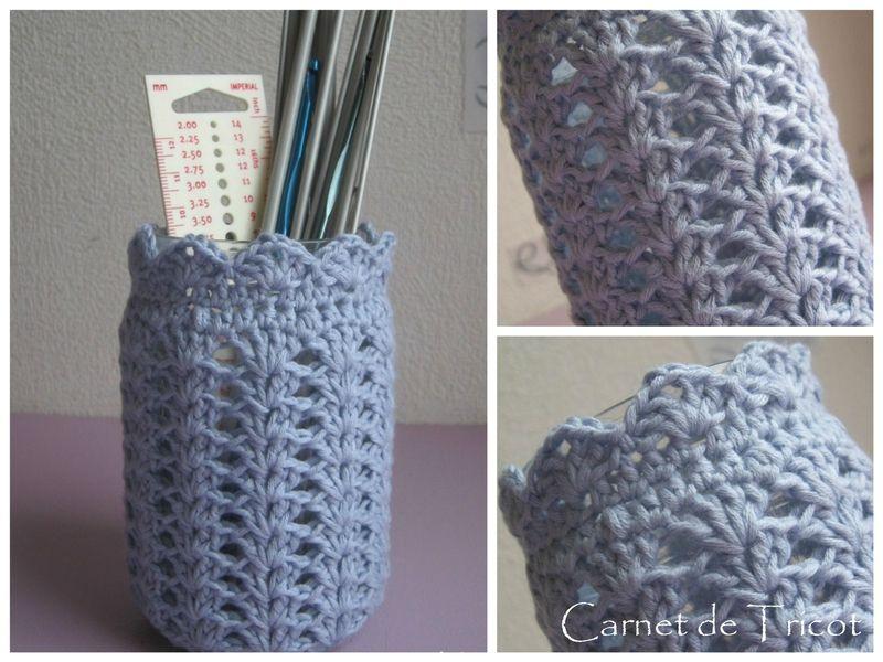 Cache Pot Ou Photophore Crochete Au Point De Coquille Carnet De