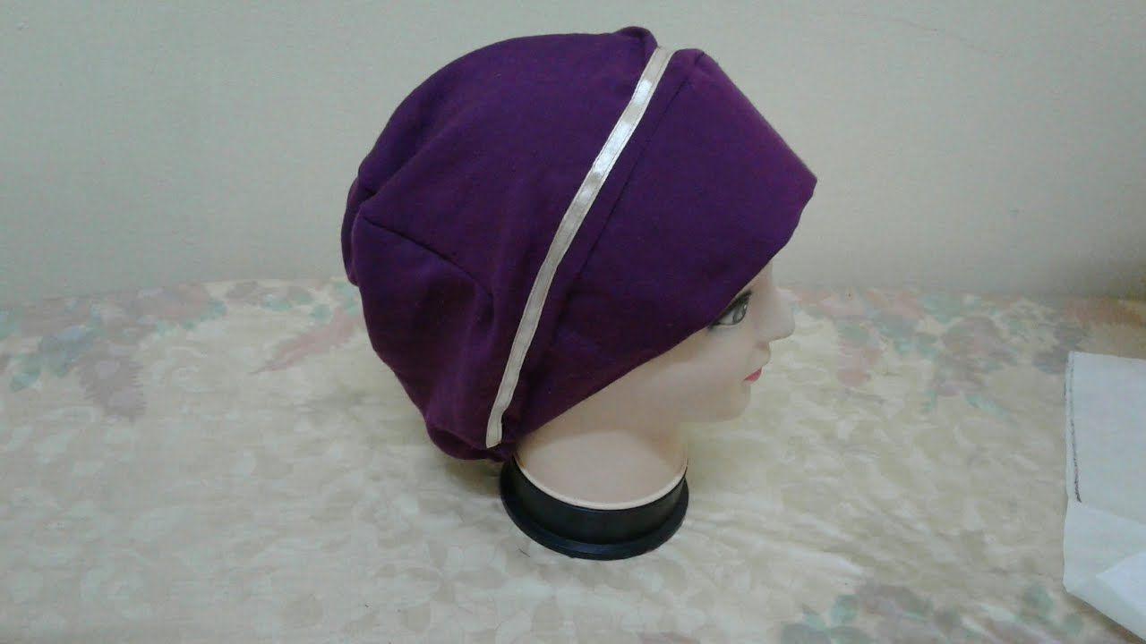 طريقة عمل بونيه ببندانه طريقة مبتكرة Turbantes Gorras Costura