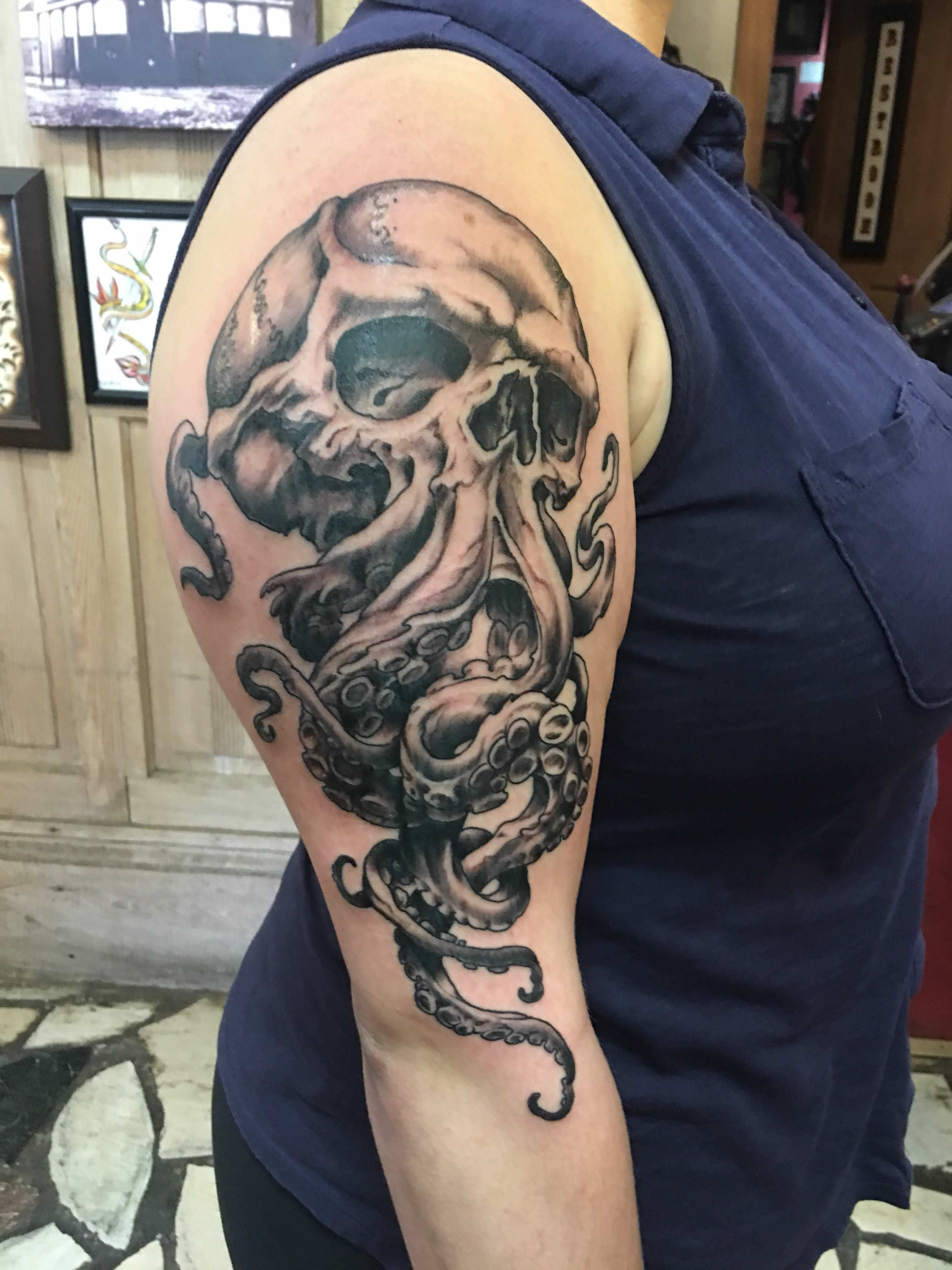 Cthulhu Done By Henry In New Orleans At Downtown Tattoo
