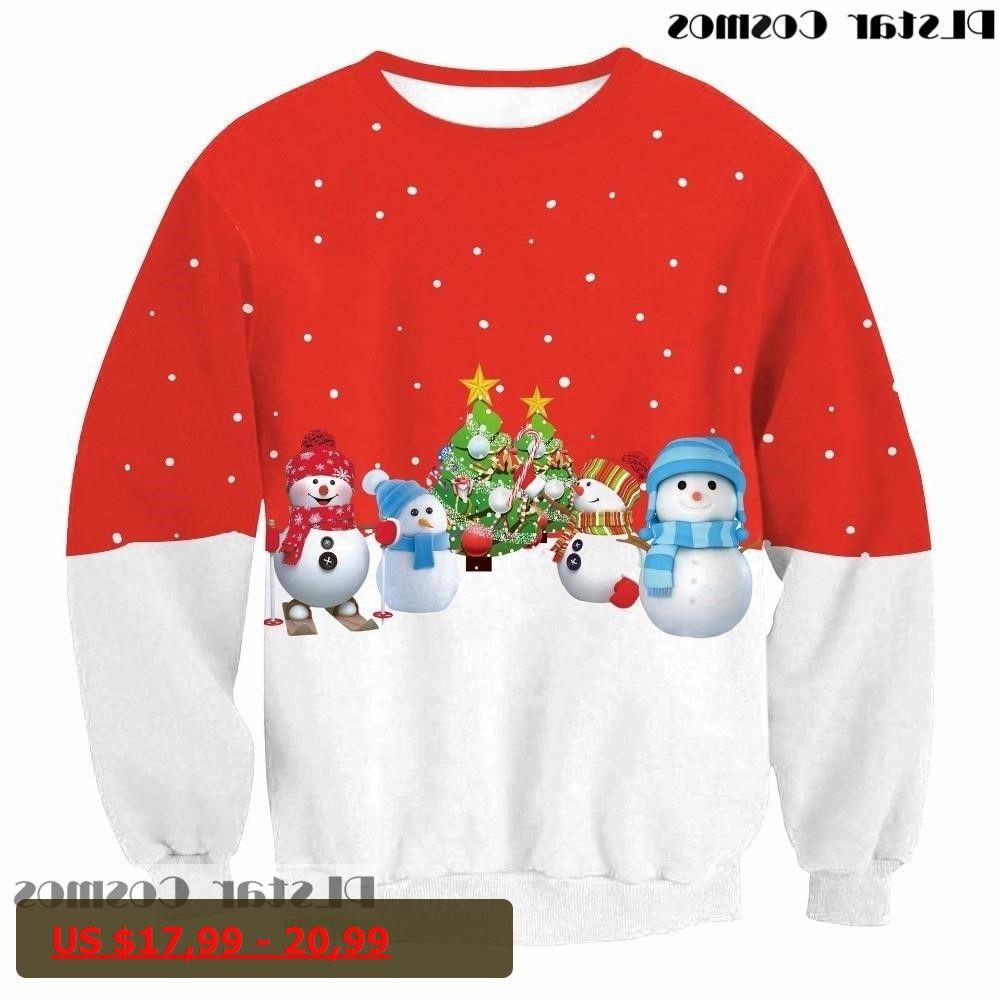 New year Christmas Sweatshirt d Festival celebrate Print Creative