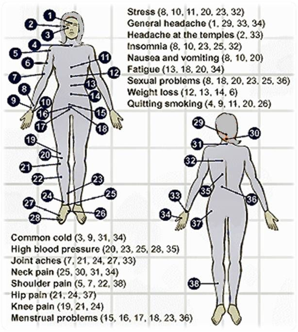 Acupressure Body Points For Different Diseases With Images