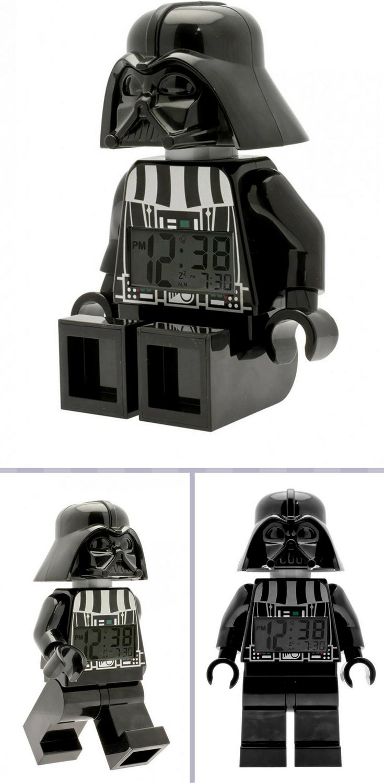 wecker kinderzimmer, lego star wars darth vader minifiguren wecker - schwarz, Design ideen