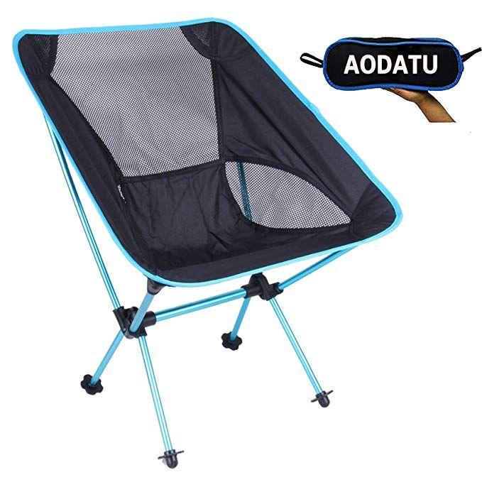 Super Aoda Camping Chairs Folding Lightweight Aluminum Blue Machost Co Dining Chair Design Ideas Machostcouk