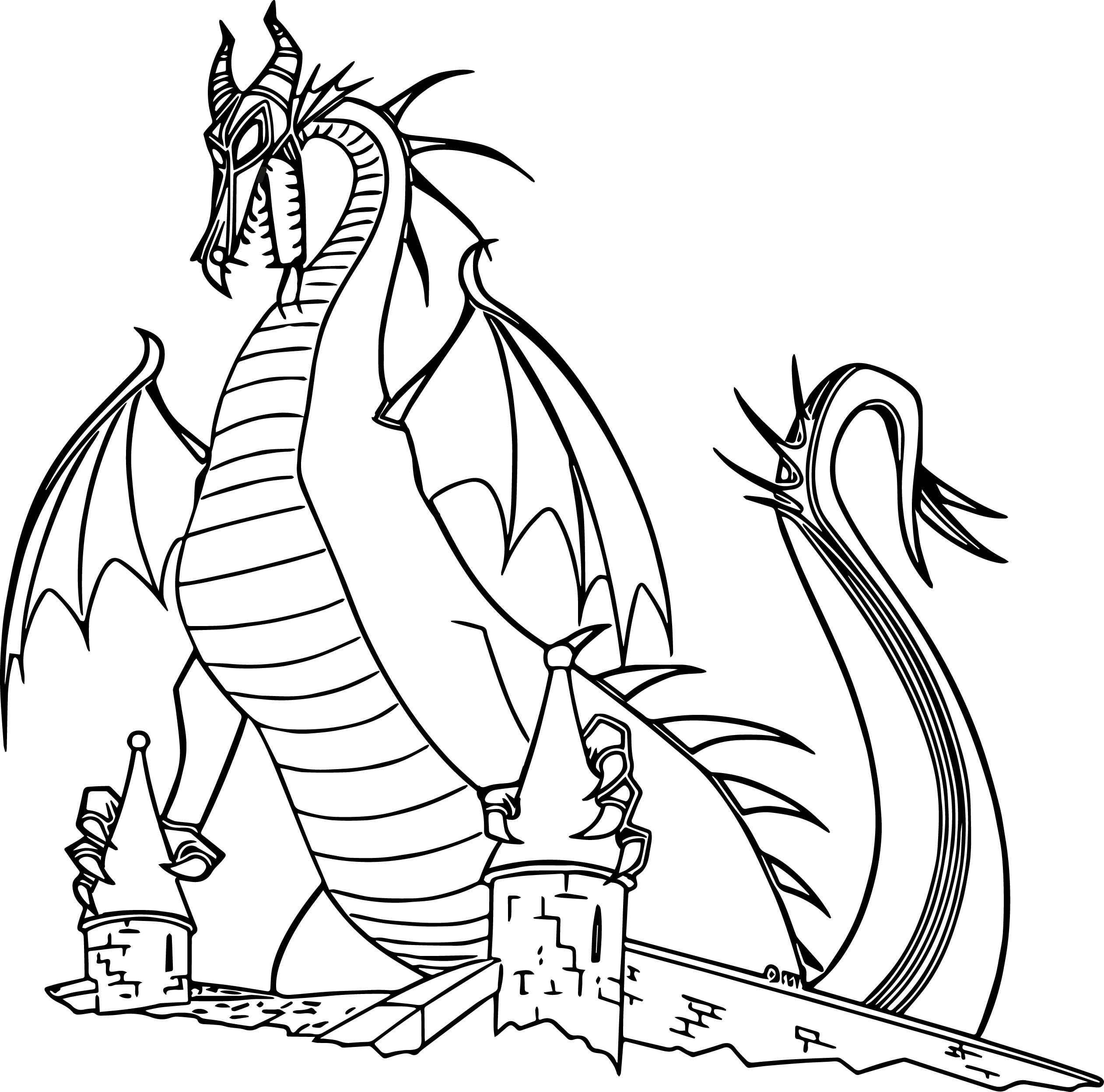 Dragon Maleficent Coloring Page Cartoon Coloring Pages Animal Coloring Pages Dragon Coloring Page