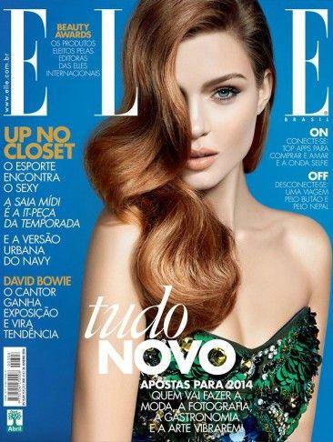 Josephine Skriver by Nicole Heiniger for Elle Brazil Jan 2014