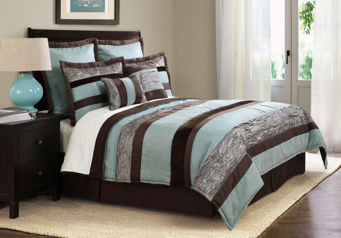 Home Design Brown And Turquoise Bedroom Black And Turquoise Aquabedding Comfortable Bedroom Brown Master Bedroom Brown Bedroom Decor