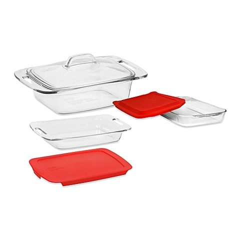 Pyrex Easy Grab Glass Bakeware With Lids Hogar Y Ideas