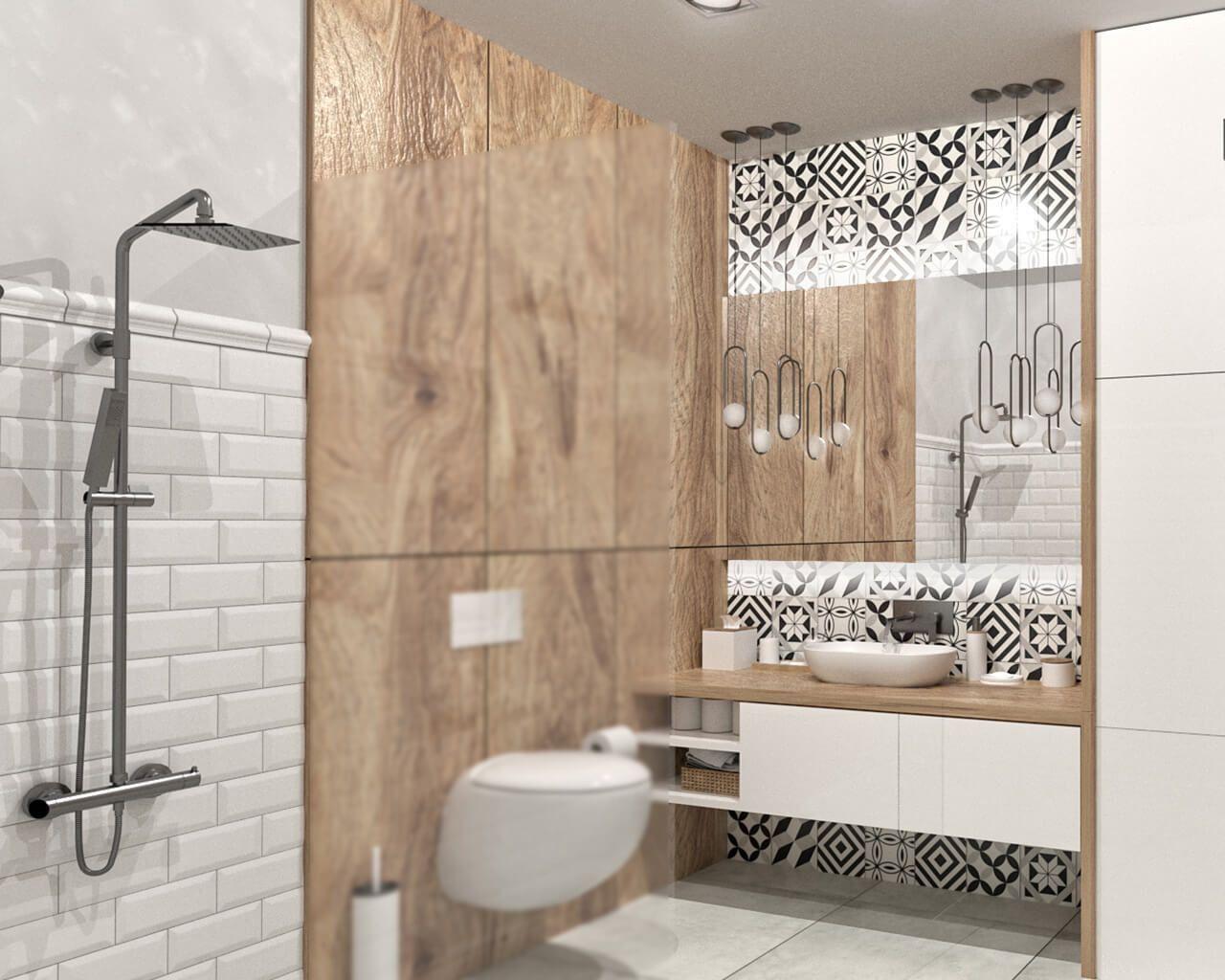 Projekt Aranżacji Wnętrza Niewielkiej łazienki Ceramika