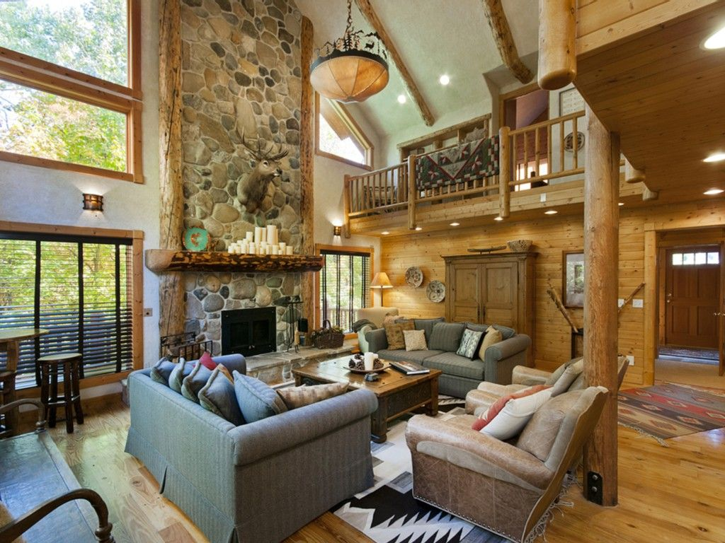 Sundance lodge rental Classic lodge great room with woodburningGreat room with fireplace. Great Room With Fireplace. Home Design Ideas