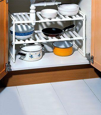Organizador bajo fregadero compras pinterest fregaderos organizadores y bajos - Organizador armarios cocina ...