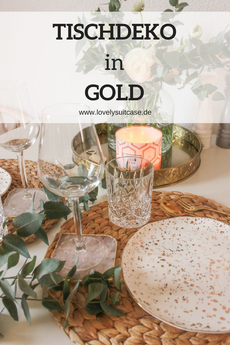 Tischdekoration In Gold Baby Table Decorations Spring