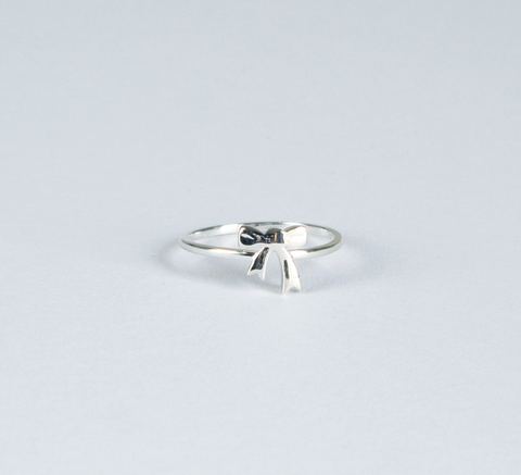 f4fe0ee49f9 Karen Walker / Bow Ring Silver- 'Thanks for helping me tie the knot'  Bridesmaid Gift Idea