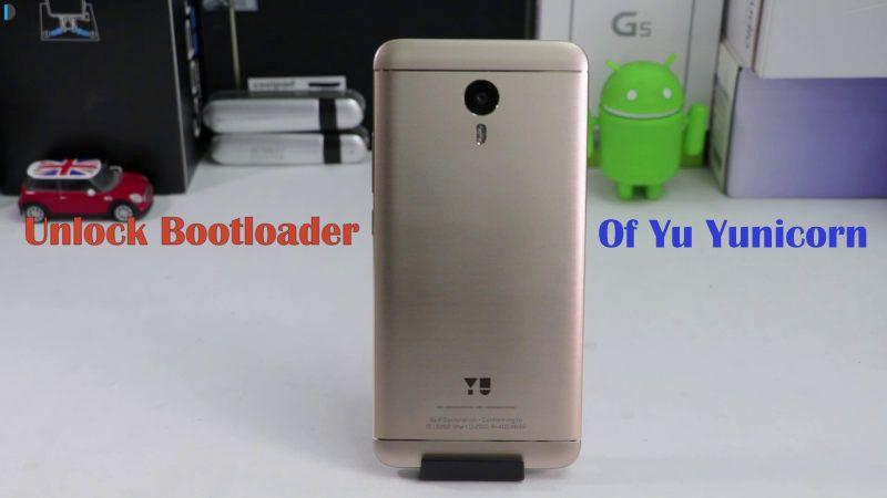 How to unlock bootloader of yu yunicorn unlock root