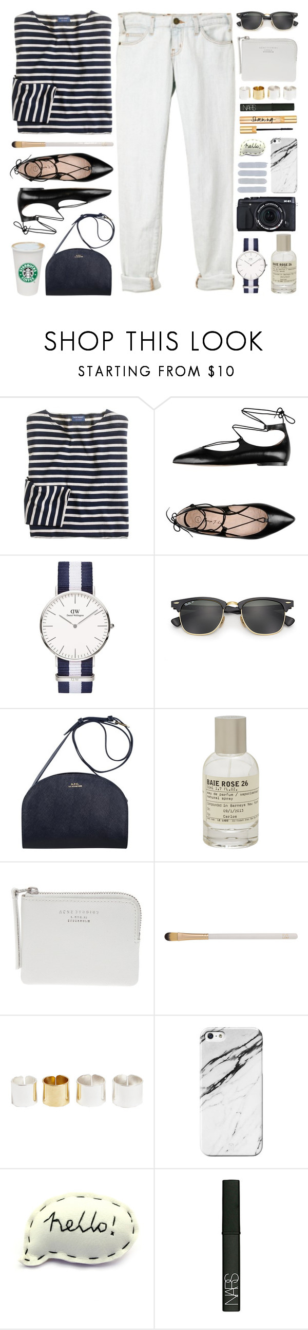 """""""Every time that you're feeling low, you should know I'll be there for you"""" by steffywhoelse ❤ liked on Polyvore featuring J.Crew, Current/Elliott, George J. Love, Ray-Ban, Le Labo, Acne Studios, Eve Lom, Dries Van Noten, Fujifilm and NARS Cosmetics"""