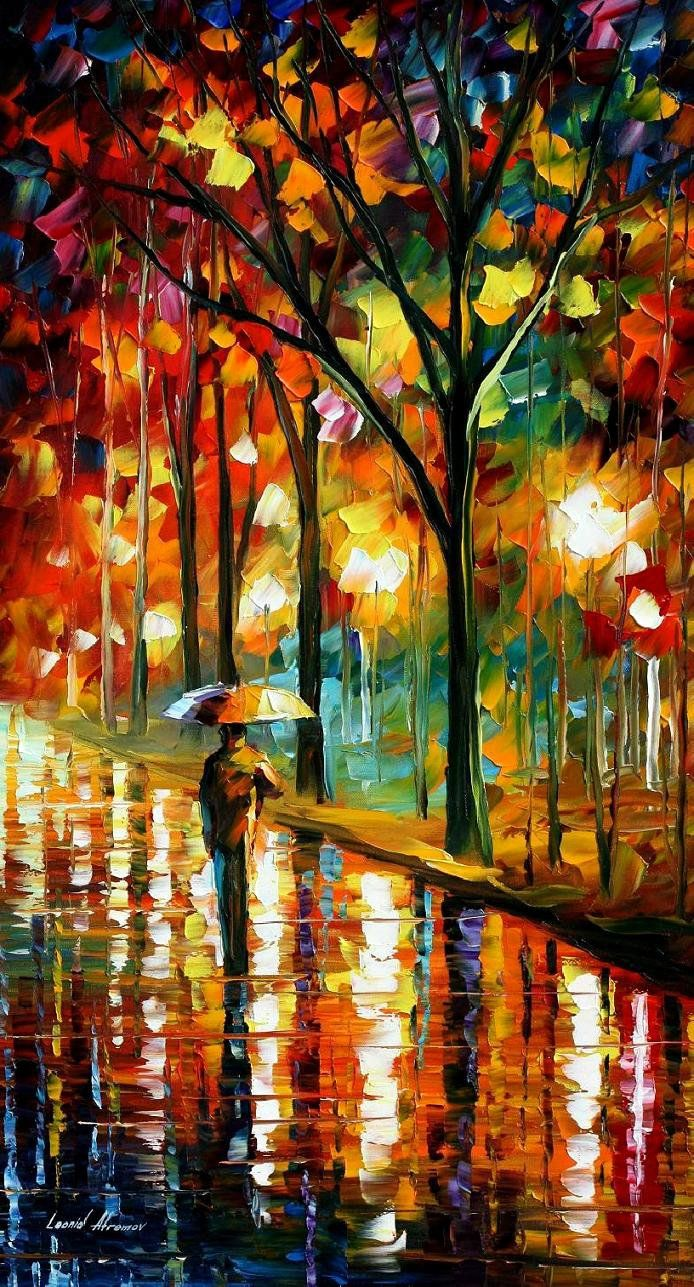 WALK DOWN THE ALLEY 2 — PALETTE KNIFE Oil Painting On