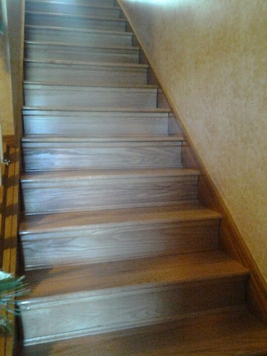 Finally Replaced The Carpeted Stairs With Wood! Retro Tread Makes It Easy  To Redo Stairs