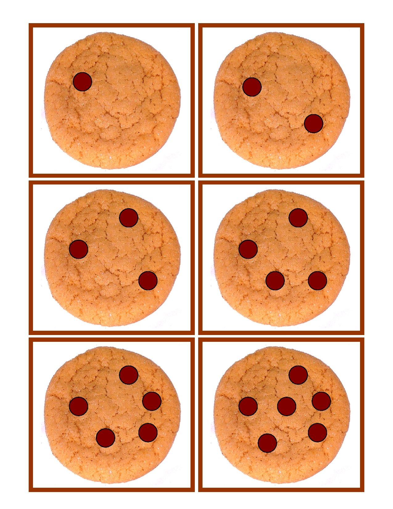 Chocolate Chip Cookie Counting Game develops basic counting skills ...