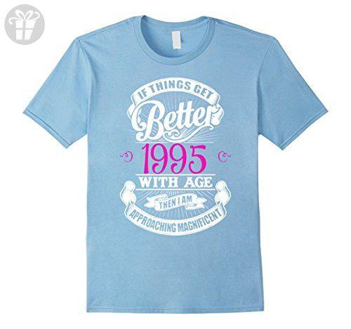 Mens HAPPY 1995 MY 22TH BIRTHDAY GIFT TSHIRT Medium Baby Blue - Birthday shirts (*Amazon Partner-Link)
