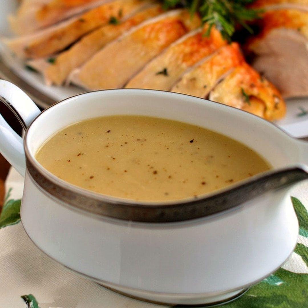 The Best Turkey Gravy #turkeygravyfromdrippingseasy