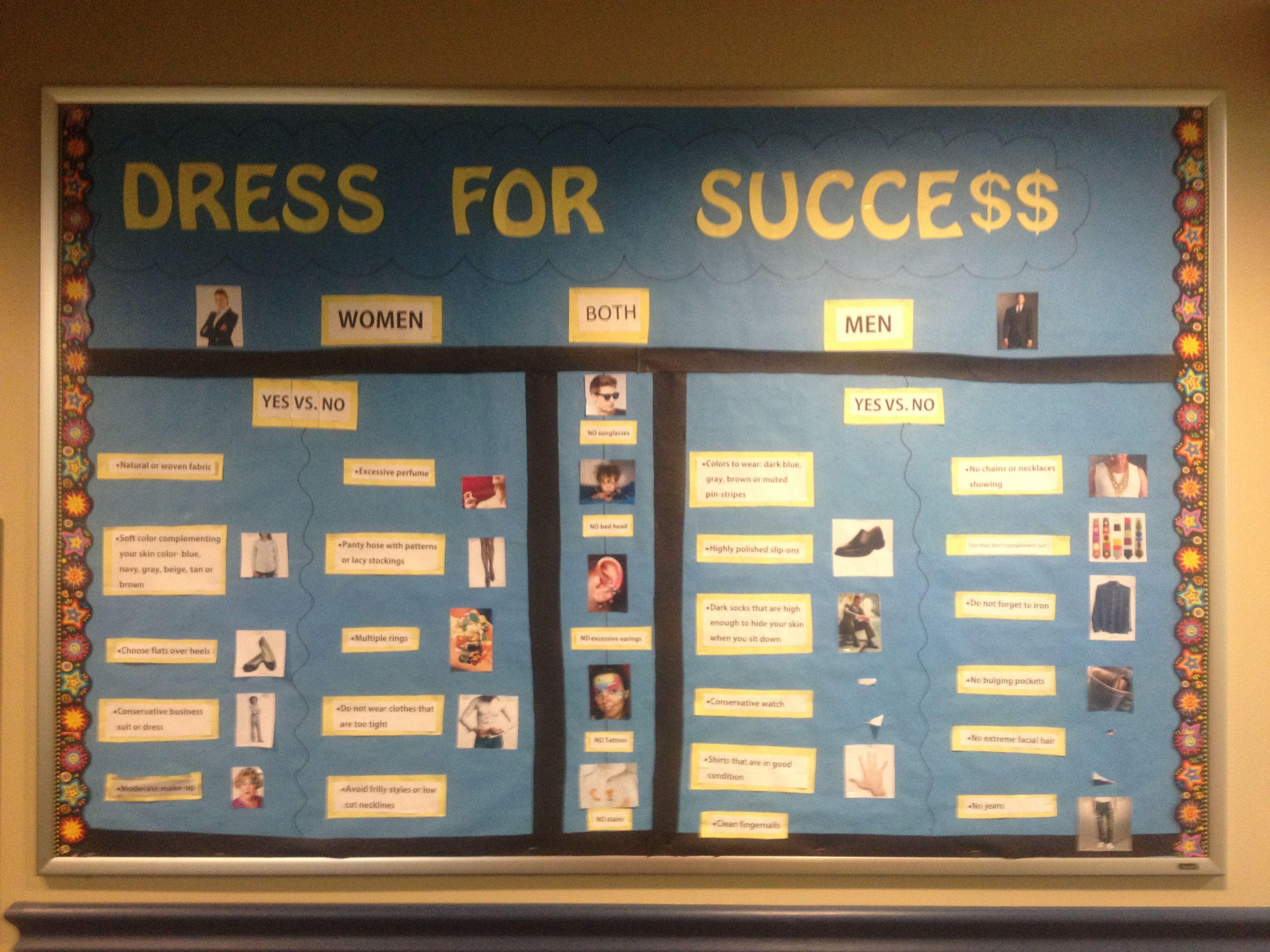 Dress For Success bulletin board  School Stuff  Pinterest