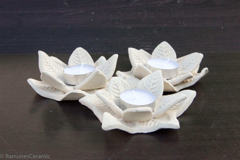 White Wedding Decor | White Candlestick holder | White tea light ...