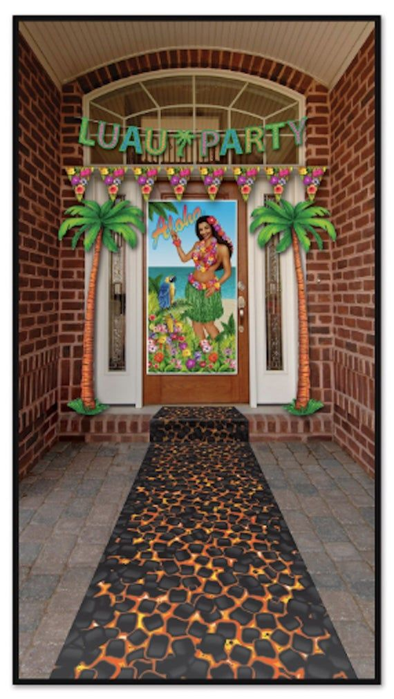 Hot Coals Luau Party Aisle Runner luau party decorations Luau Party Aisle Runner hawaiian party aloha banner Decorations Summer Party