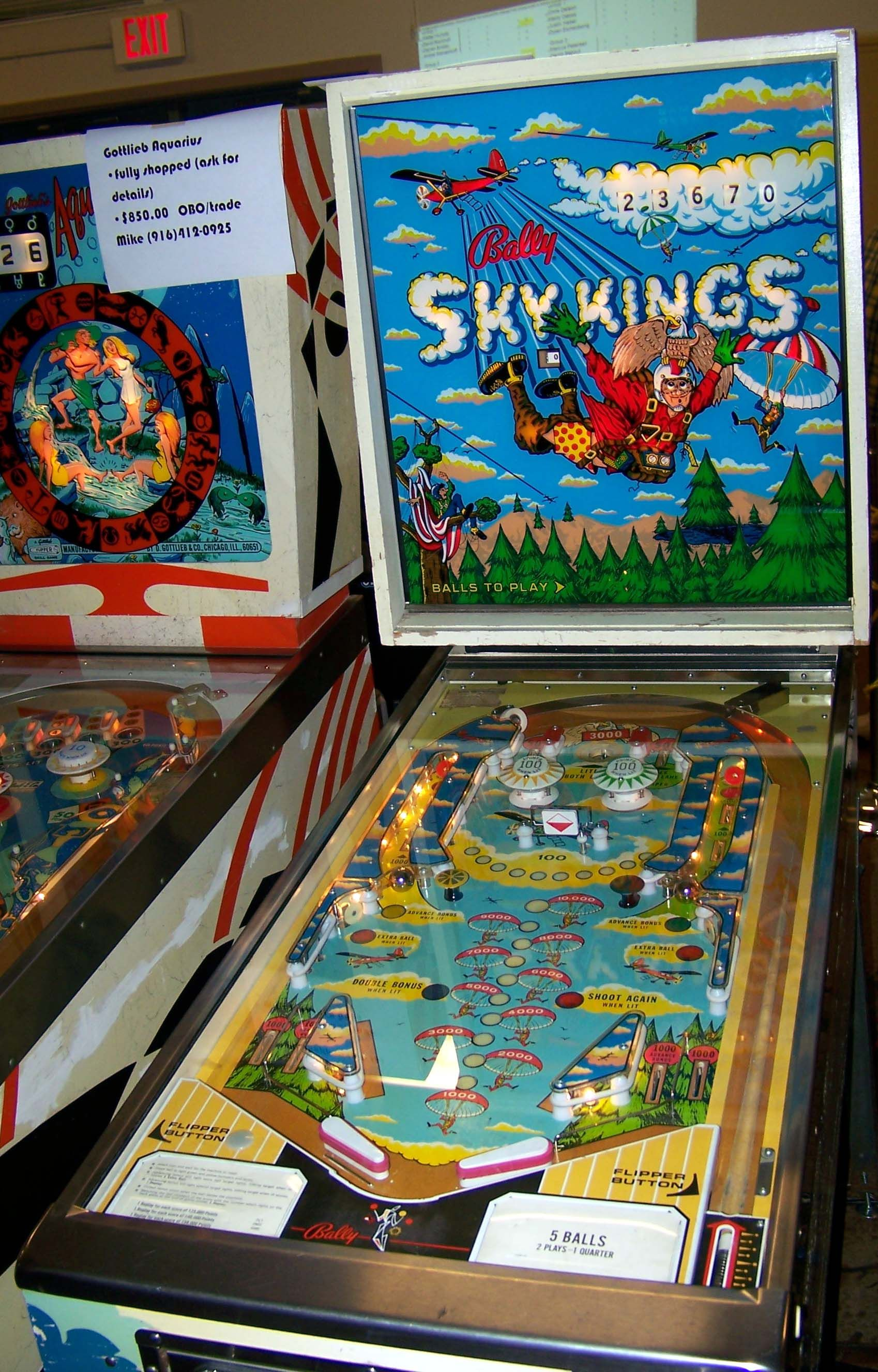 1973 Sky Kings Bally Pinball Machine