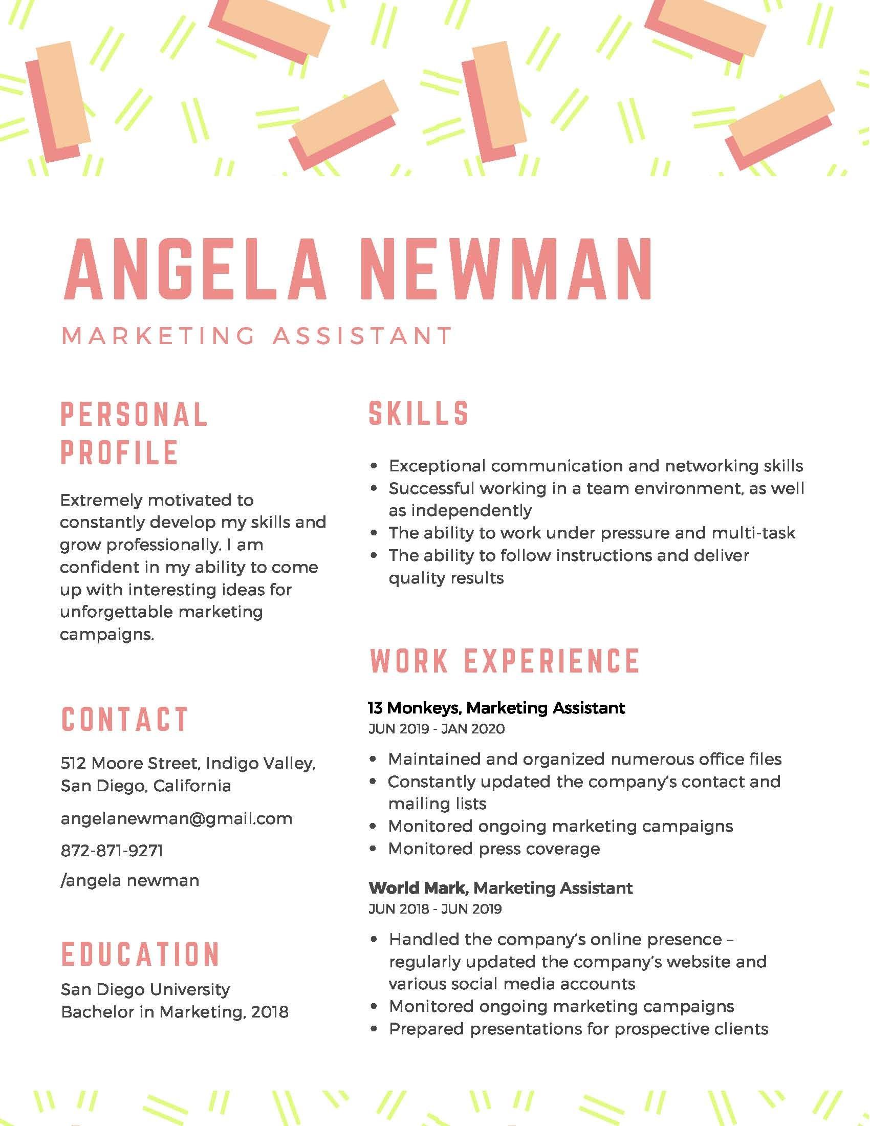 Design your Resume https://www.fiverr.com/s2/c2d6a10cda | Designer ...