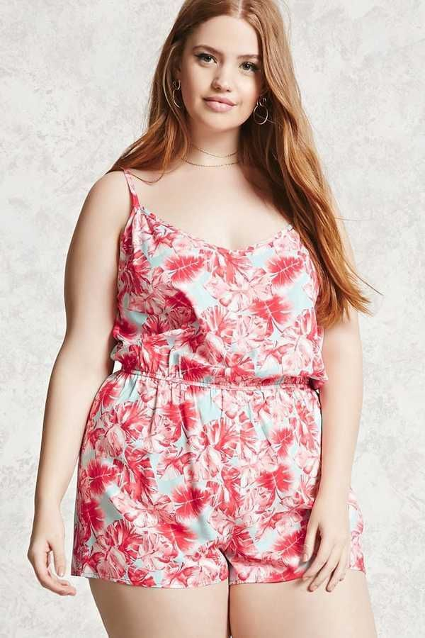 25a9f47ad9a2 Forever 21 FOREVER 21+ Plus Size Tropical Romper