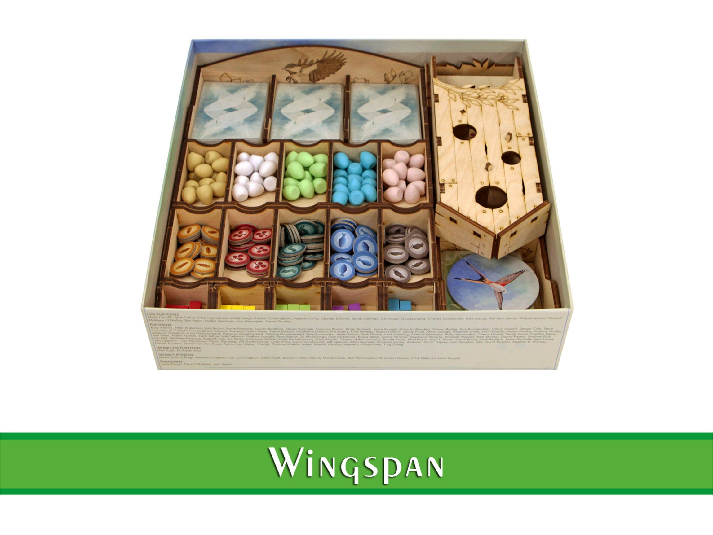 Wingspan Organizer Free Dicetower Wood Insert For Wingspan Etsy Board Game Storage Board Games Game Storage