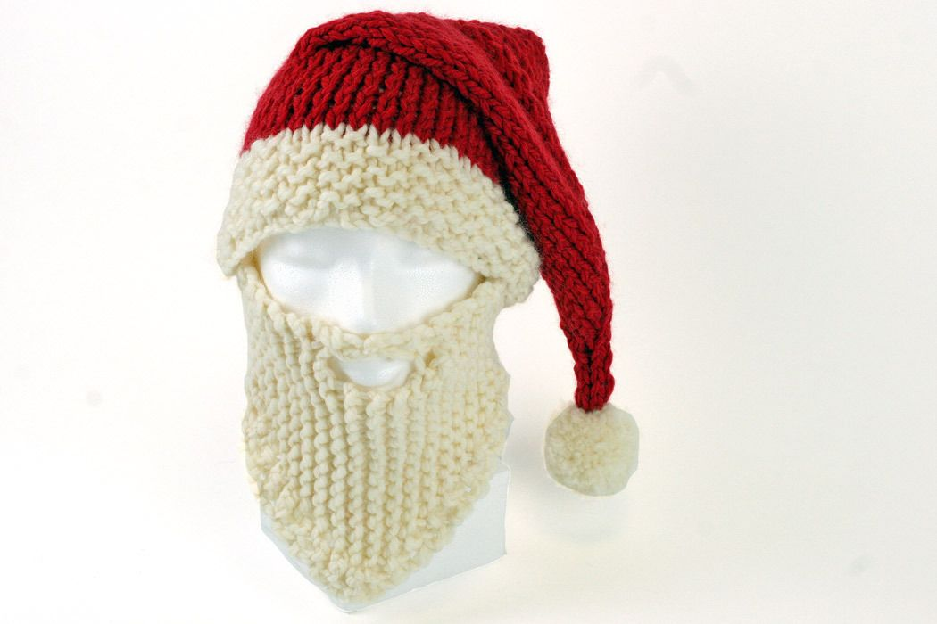 Santa Hat and Beard Knitting Pattern   Ganchillo