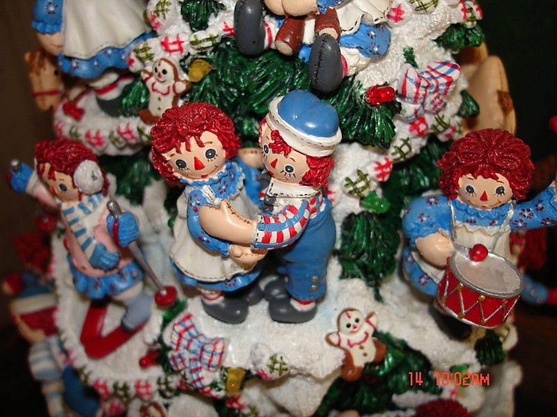 raggedy ann and andy lighted christmas tree from danbury
