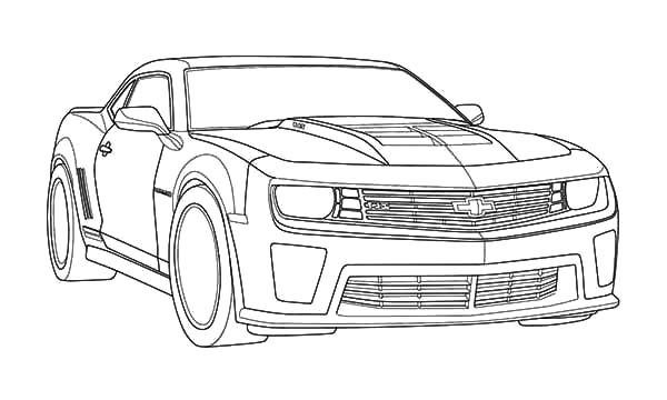 Muscle Car Camaro Bumblebee Car Coloring Pages Best Place To Color In 2020 Cars Coloring Pages Muscle Cars Camaro Camaro