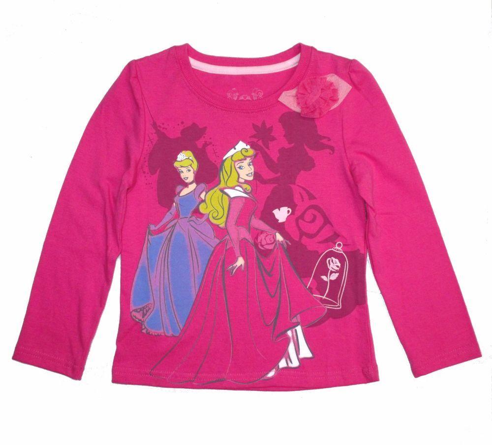 Disney Toddler Girls Princess t Shirt Tee Top Long Sleeves