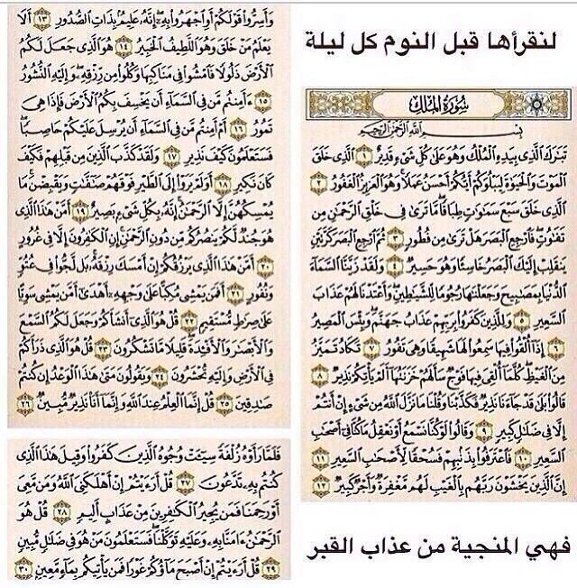 سورة الملك النجياة من عداب القبر Quran Verses Quran Quotes Holy Quran