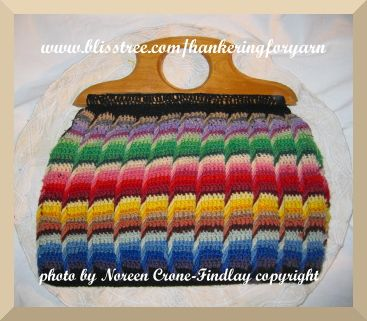 Crochet Handbags | Vintage crocheted bag with post stitches
