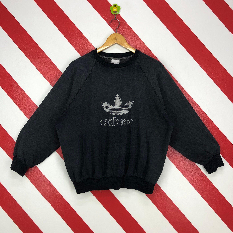 Vintage 90s Adidas Sweatshirt Crewneck Adidas Trefoil Sweater Etsy Sweatshirts Adidas Sweatshirt Adidas Trefoil [ 3000 x 3000 Pixel ]