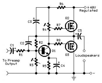 mini amplifier using mosfet