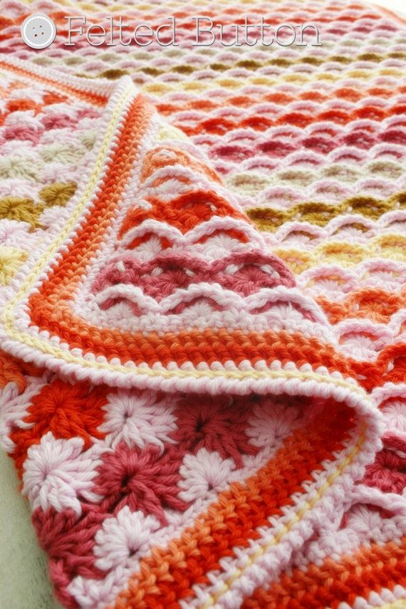 Crochet Pattern, Confections Blanket, Baby, Afghan, Throw | Tejido