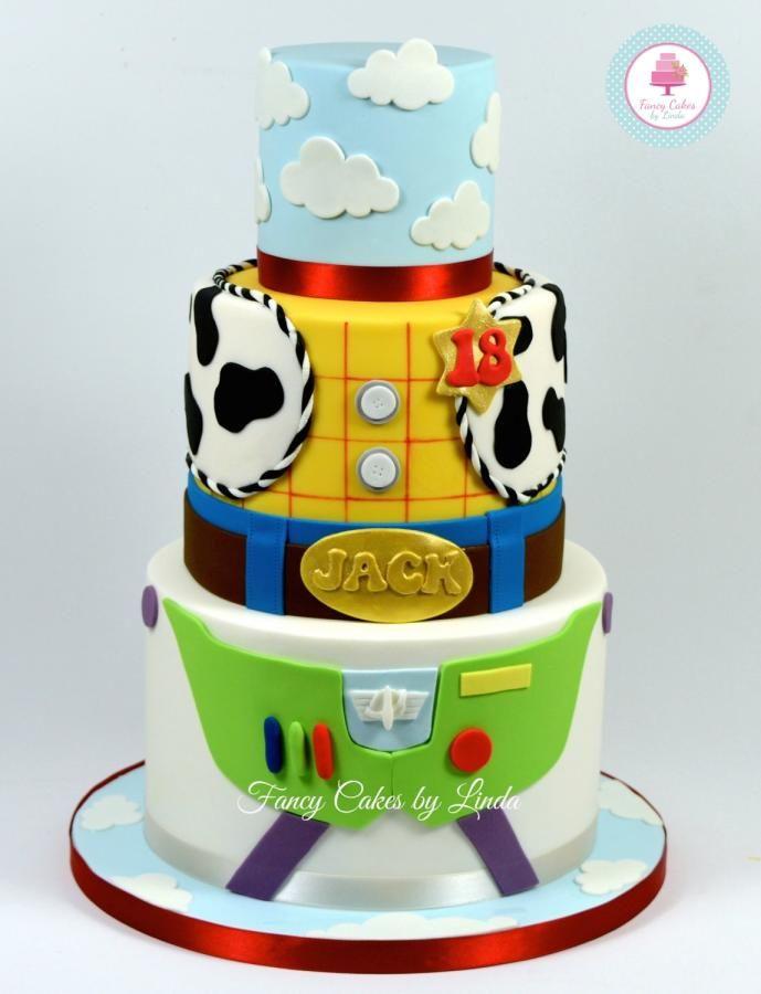 Disney Pixar Inspired Toy Story Birthday Cake Childrens Cakes In