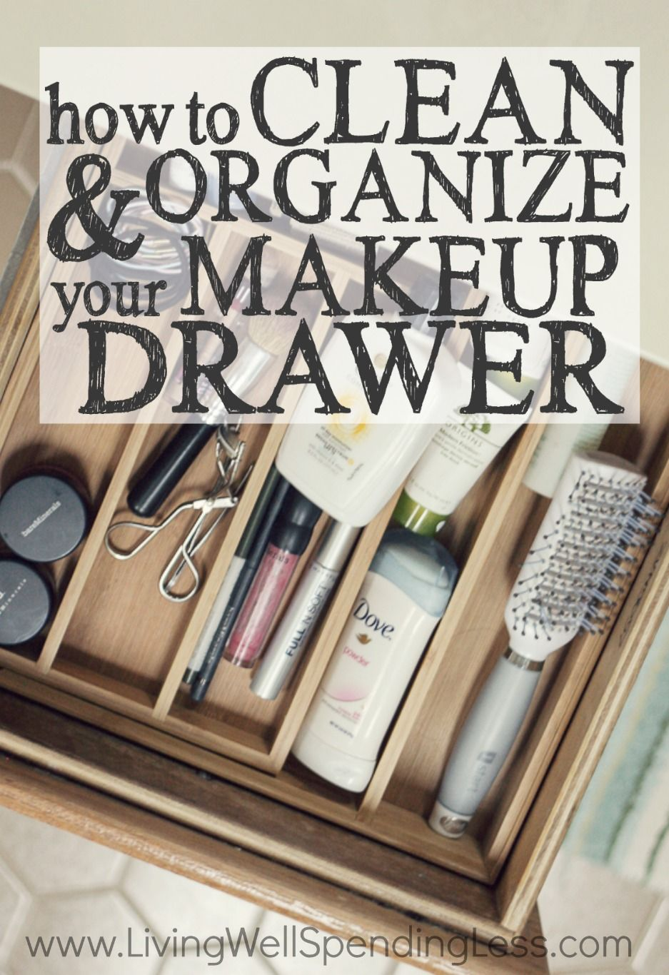 How to Clean & Organize Your Makeup Drawer Bathroom drawers