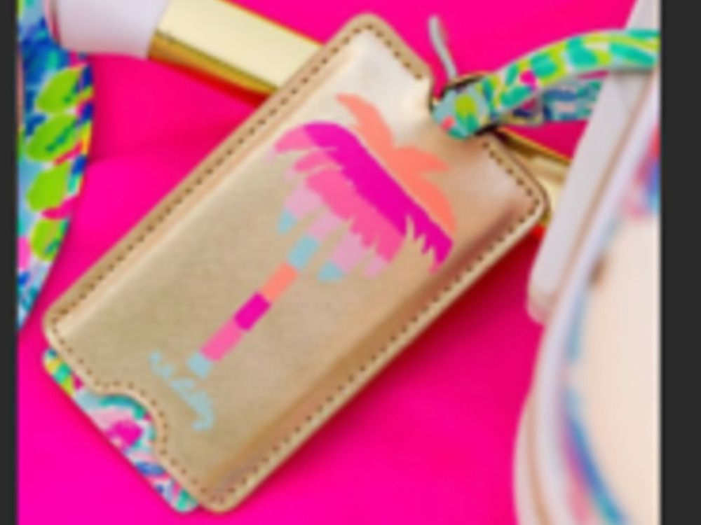 Nwt Lilly Pulitzer Luggage Tag Catch The Wave Summer