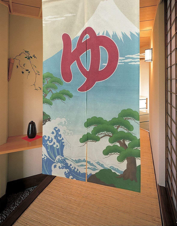 150e2439cd25 From japan noren tapestry japanese fuji solditjapan on etsy jpg 1176x1500 Mount  fuji antique japanese tapestry