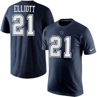 pretty nice 8c42e 794bf Nike Ezekiel Elliott Dallas Cowboys Navy Player Pride Name ...
