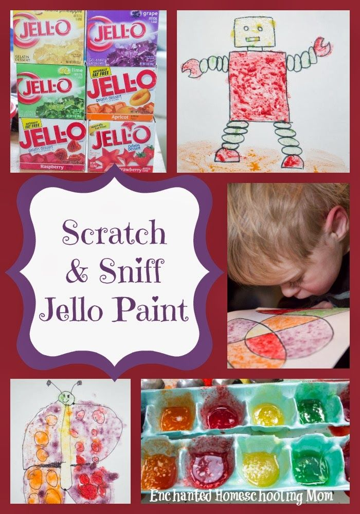 Scratch and Sniff Jello Painting - Enchanted Homeschooling Mom