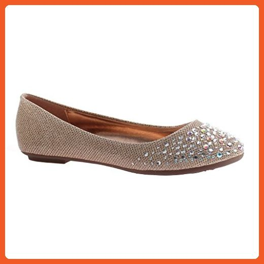 466cf3785d3f6 Madeline Girl Womens Snazzy Flat Shoes, Taupe - 6.5M - Flats for ...