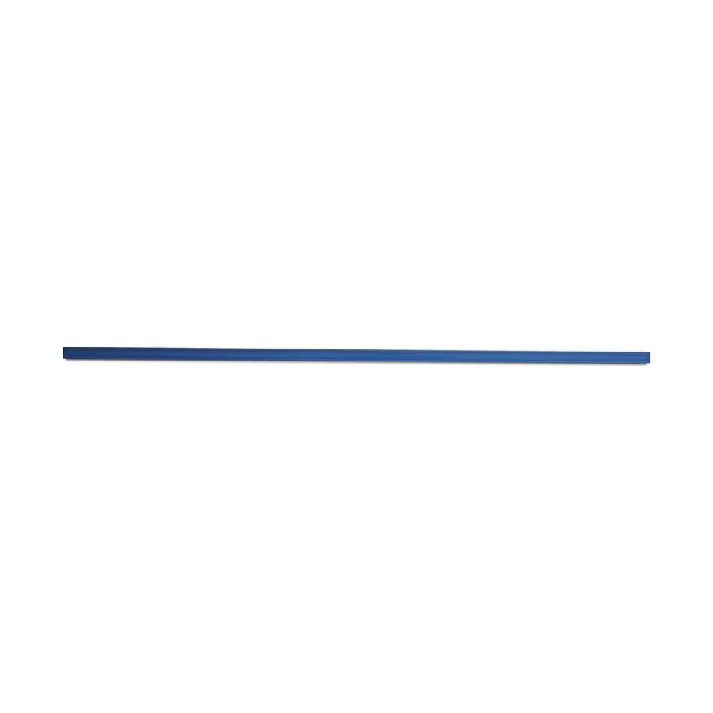 blue glass pencil tile trim